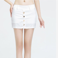 2013 women's fashion formal solid color slim shorts button decoration bag skirt culottes