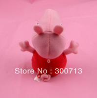 Free Shipping 18cm Peppa Pig Plush toys Doll Minion As Gift for Children 50 pcs/lot