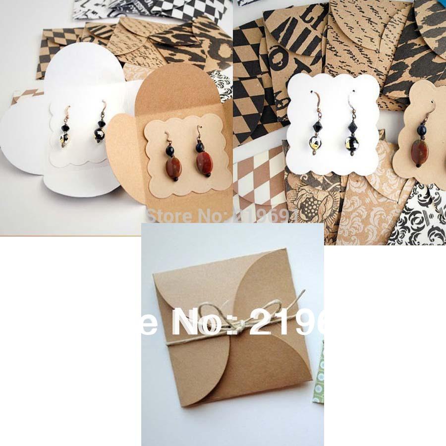 DIY kraft earring packing ard Earring card Cover & Earring Card Hand Made Earring packing Custom Logo cost logo fee MOQ:500 PCS(China (Mainland))