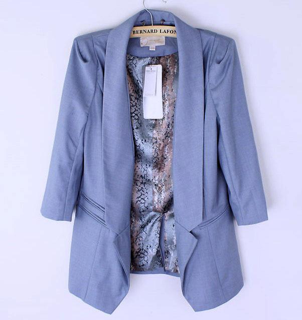 Мода женщин три четверти рукав пиджака
