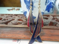 Cloisonne earrings accessories female long design fashion national trend