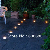 Free Shipping! Colour Changing LED Inground Light RGB Floor Decking Light Set Outdoor:20pcs Light&1pc Driver&1pc RGB Controller