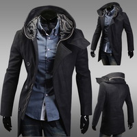 Warm Winter Fashion Stylish Men Boy Slim Fit Jacket Coat Overcoat Zip Outerwear F00958