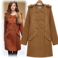 2013 New winter women's woolen coat and long sections Slim woolen coat jacket wholesale price