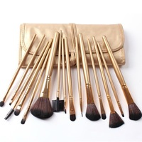NEW Fashion 15 pcs Cosmetics Makeup Brush Tool  Make Up Beauty Brushes Set Promotion BE050