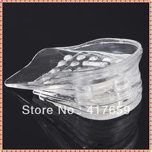1 par 5 capas insertos almohadillas ascensor zapato aumentar la altura ajustable más alto plantilla gel de silicona cómodo nuevo venta caliente(China (Mainland))