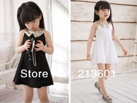 summer new arrive hot sale baby dress summer cute  girl dressesgirl dress baby clothing white black in stock
