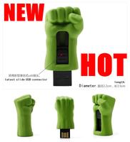 Free Shipping The avengers Hulk fist  USB Flash drive  8GB 16GB 32GB 64GB Pen drive usb flash memory stick USB 2.0 U Disk