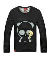 Printing Cartoon T Shirt Lovers clothes Women's Men's 4 Colors casual long sleeve t-shirts for couples S- XXXL Cotton tees MT135