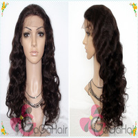 High Density #2 Darkest Brown 10''-24'' Body Wave Brazilian Virgin Remy Human Hair Lace Front Wigs Free Shipping Factory Price