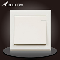 Bi Hu. Wall switch. 16A. 110V-250V. 50Hz/60Hz. 1 key. Dual control. German imports pc panel. Retardant.