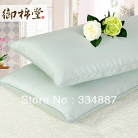 The bedding Double stretch cotton pillowcases plain cotton bamboo charcoal a pair of soft pillow cases