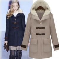 2013 New winter long section of wool and cotton wool coat woolen coat jacket coat wholesale