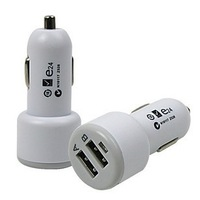 Free Shipping general Double USB Car Charger 12 to 24 v DCCigarette Lighter Charger FOR Samsung htc   apple ipad