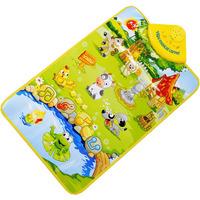 Kids Baby Farm Animal Musical Music Touch Play Singing Gym Carpet Mat Toy Gift Freeshipping&wholesale