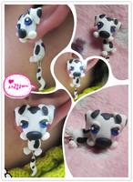 Handmade polymer clay cartoon stud earring new arrival personality