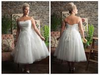 2014 New White Short wedding Dresses Short Cocktai Gown Bridesmaid Dress Party Dress Strapless  Plus Size Dress
