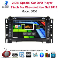 2 din 7 inch car radio player pc with mp3 bluetooth usb cd dvd fm touch screen gps rds & optional 3g for Chevrolet New Sail 2013