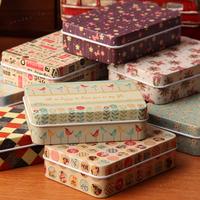 (5pieces/lot) Beautiful pattern candy box tin box card box the zakka tin storage box