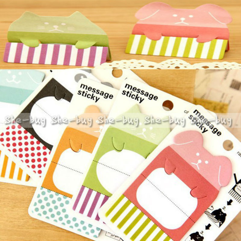 A06145 Random Standing Animal Sticker Post It Bookmark Marker Memo Flags Sticky Notes(China (Mainland))