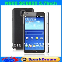 N900 Phone With SC6820 Android 2.3 WiFi FM Gesture Sensing 5.7 Inch Capacitive Screen Smart Phone