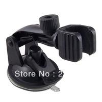 "2014 New 1/4"" Screw Head Long Handle LED Flashlight Mini Bullet Camera Car Windshield Suction Mount Holder Car DVR Bracket"