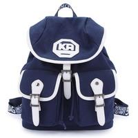 Fashion Preppy Style Canvas Bag For Women Backpacks Double Shoulder School Backpack Rucksack Girl Student Computer Laptop Bag