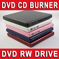 External USB 2.0 Piano Paint DVD+/-RW CD+/-RW DVD-ROM CD-RW DVD-RW DL Writer Burner Copier Rewriter Reader Drive For PC & Laptop