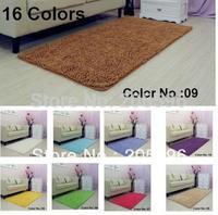 16 colors size 50X80CM Power Threads Microfiber Chenille Floor mat bedroom mat dining room carpet