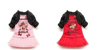 Popular Minnie suit/2-piece set: Minnie t-shirt with small coat+ tulle skirt/2013 hot sale