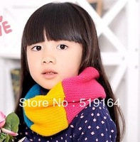 Free Shipping! Hot Selling Colorful Solid Soft double layers Children Ring Scraf