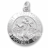Free shipping hot selling  St Christopher Patron Saint of Travelers July 25th charms  rhodium and gold 12pcs/ lot