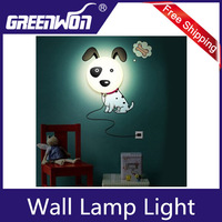 2013 DIY Kid's Bedroom Wallpaper Stickers Wall Lamp Cute 3D Removable Home Decor Night Light Mix Order Free shipping