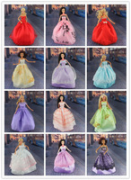 30items=10dress+10 shoes+10accessories Party Doll's Dress Clothes Gown For lovely doll