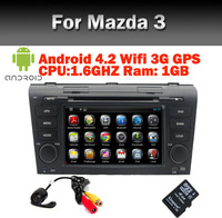 Android 4.0 Car DVD player for Mazda3 Wifi 3G CPU1G RAM 1G GPS Bluetooth radio TV USB SD IPOD Free Shipping