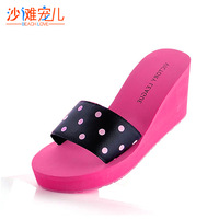 Lovable Secret - Summer ultra high heels wedges drag beach slippers platform women's slippers  free shipping