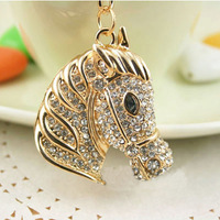 Free Shipping New Design Crystal Lovely House Keychain  Keyring Bag/Purse  Charm gift  Real Gold Plated,three colors choice