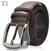 Male cowhide belt business casual all-match pin buckle second layer of cowhide belt