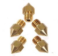 5PCS Replicator 0.5mm MK8 Head Brass Nozzle for Makerbot 3D Printer PLA Printing