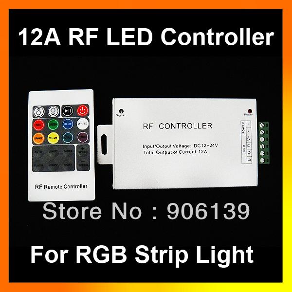 DC 12V / 24V 12A 20KEY Wireless RF RGB LED remote Controller for strip light(China (Mainland))