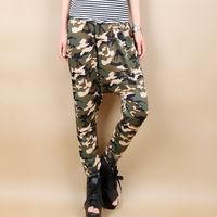 2013 loose plus size trousers personalized Camouflage big crotch pants harem pants hanging crotch pants
