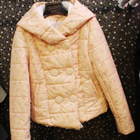 Small fresh wadded jacket long-sleeve slim with a hood cotton-padded jacket outerwear female winter new arrival