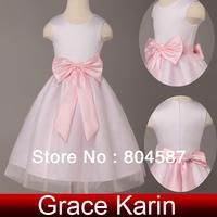 Free shipping!Grace Karin flower girl dresses pink Tulle princess dress for wedding girl Kids party dress CL4840