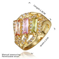 New Arrival 18K Gold Plated Ring,Fashion Jewelry Ring,18K Rhinestone Austrian Crystal Ring Men Women Wedding Rings SMTPR438