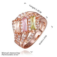 New Arrival 18K Gold Plated Ring,Fashion Jewelry Ring,18K Rhinestone Austrian Crystal Ring Men Women Wedding Rings SMTPR439