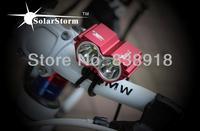 2Sets/lot 2x Cree XM-L XML U2 LED 4000 Lumens 4Mode Bicycle Light Cycle Bike Lamp HeadLamp Headlight + Battery Pack + Charger