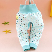100% cotton dot cotton pants waist pants care navel  for baby kids bebe cheap wholesale freeshipping