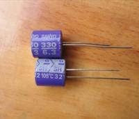 Original sanyo 's top solid capacitor 6.3v330uf 10 105