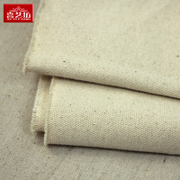 Canvas solid color white canvas thickening 100% cotton cloth diy handmade old grogram