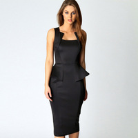 Fashion fashion women's youoccasionally sleeveless ruffle slim hip 6150 Sexy Dress dresses new fashion 2013
